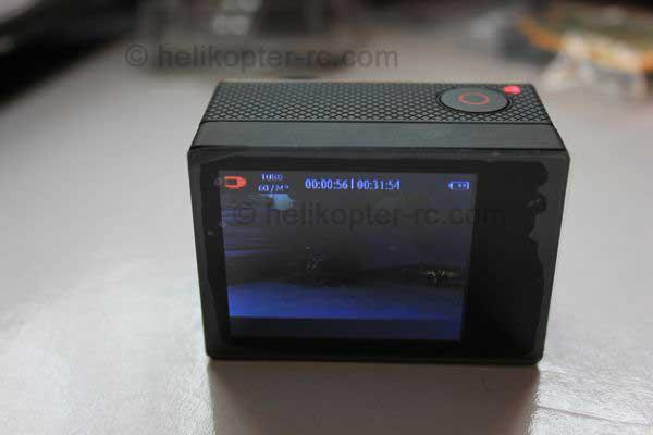 Hero LCD Monitor, bei Filmaufnahmen